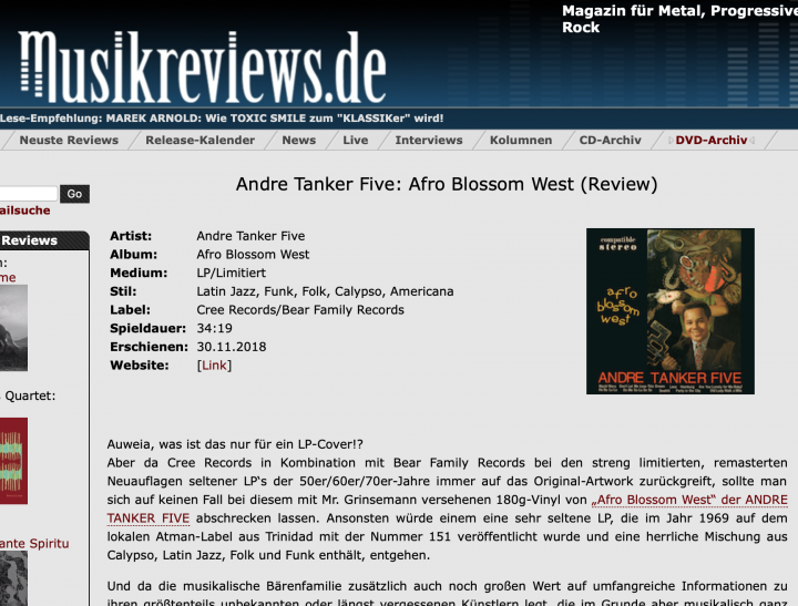 Presse-Archiv-Andre-Tanker-Five-Afro-Blossom-West-musicreview