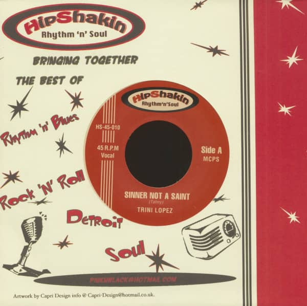Sinner Not A Saint - Palm Of Your Hand (7inch, 45rpm, PS, BC)