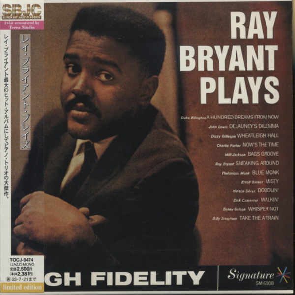 Ray Bryant Plays - Papersleeve 24BIT Limited