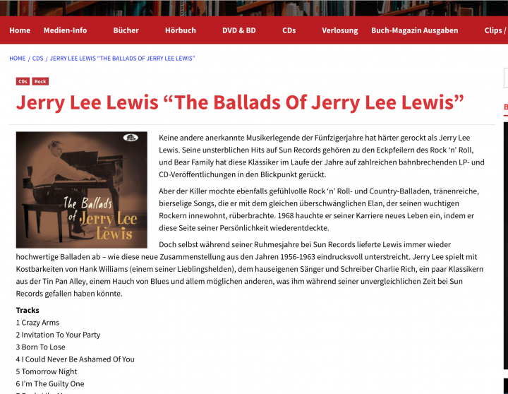 Press-Archive-Jerry-Lee-Lewis-The-Ballads-Of-Jerry-Lee-Lewis-medien-Info