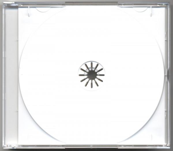 CD Leerbox mit weißem Tray für 4 CDs