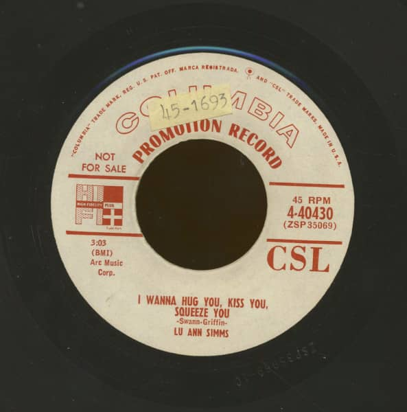 I Wanna Hug You, Kiss You, Squeeze You b-w I Might Drop Around In Your Dreams (7inch, 45rpm)