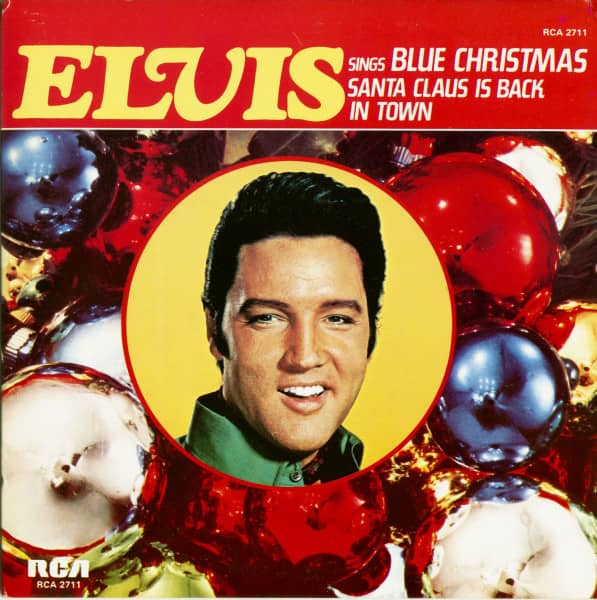 Blue Christmas - Santa Claus Is Back In Town (45rpm, Picture Carton Sleeve)