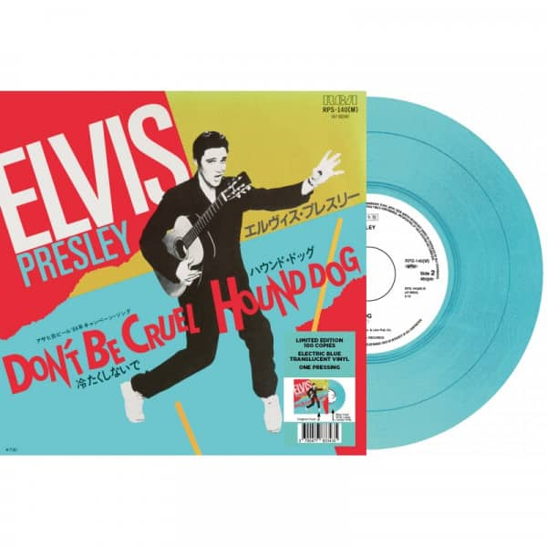 Don't Be Cruel - Hound Dog (7inch, 45rpm, Blue Vinyl, Ltd.)