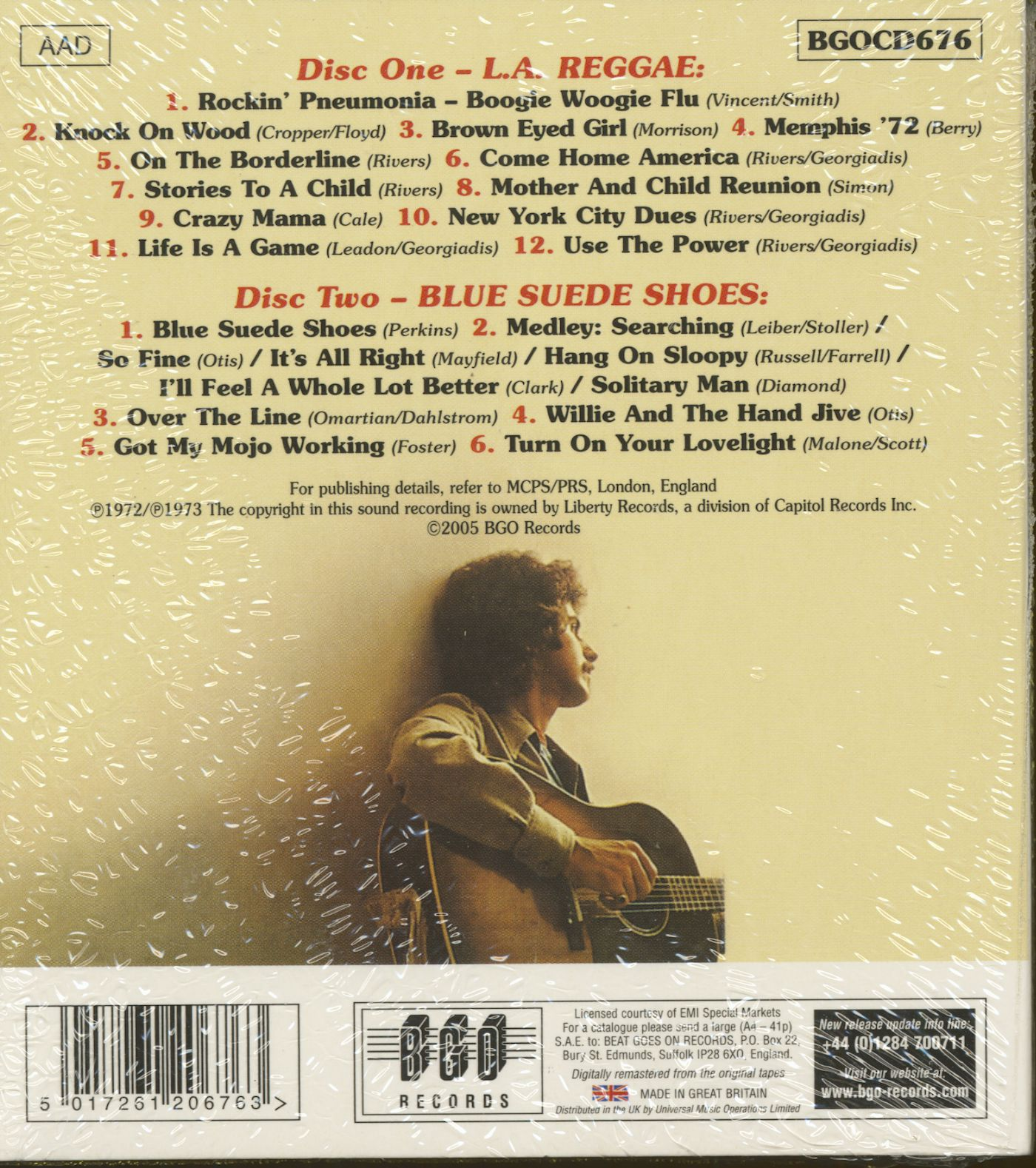 Johnny Rivers Cd L A Reggae Blue Suede Shoes 2 Cd