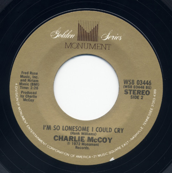 I'm So LOnesome I Could Cry - Today I... 7inch, 45rpm
