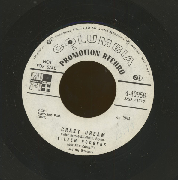 Crazy Dream b-w Third Finger Left Hand (7inch, 45rpm)