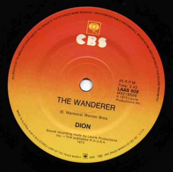 The Wanderer - Runaround Sue 7inch, 45rpm, SC