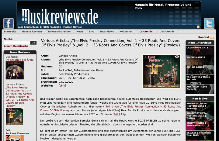 Press-Archive-The-Elvis-Presley-Connection-Vol-1-CD-musikreviews