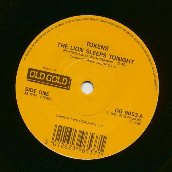 The Lion Sleeps Tonight - The Three Bells (7inch, 45rpm, SC)