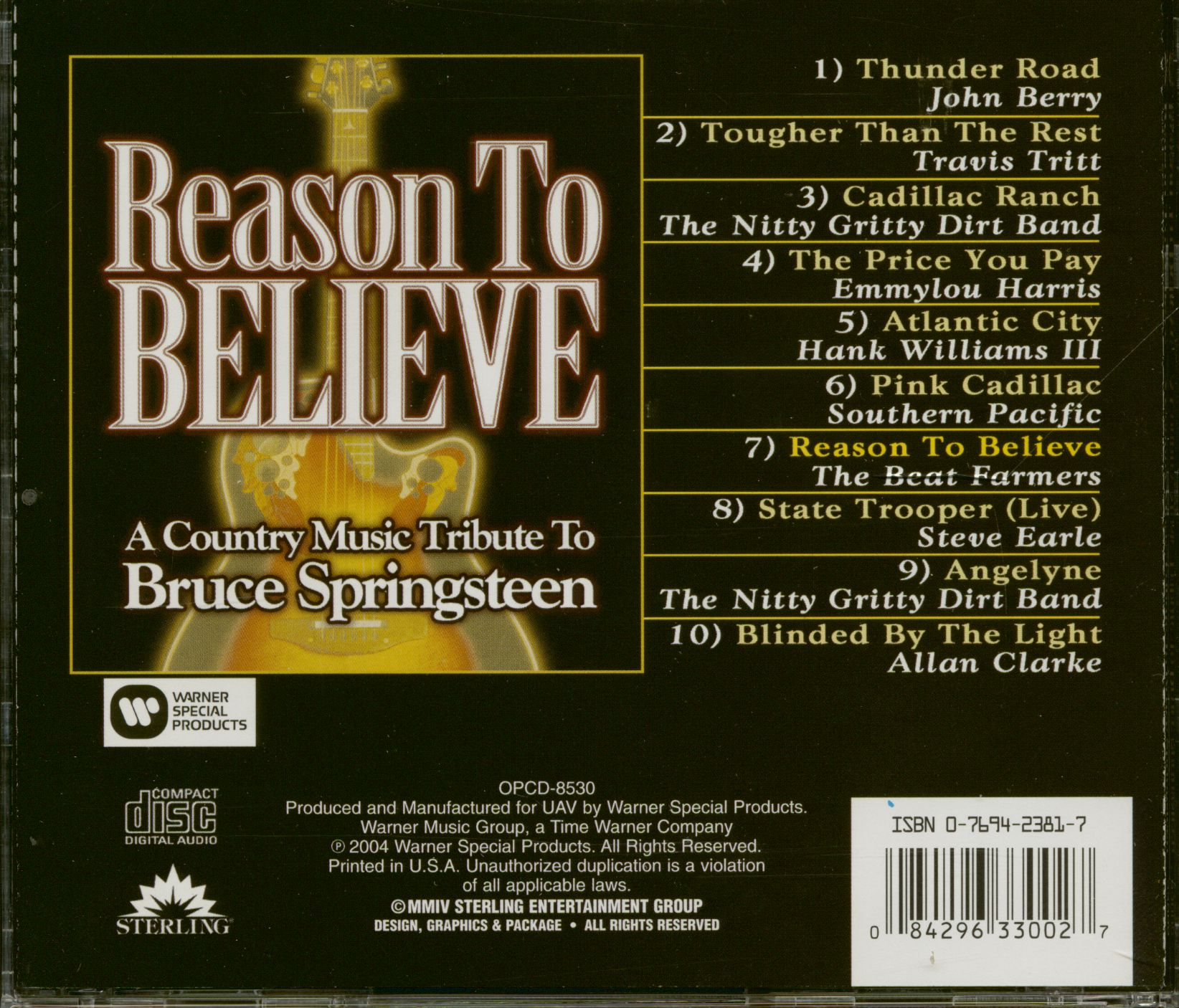 Various Cd Reasons To Believe A Country Music Tribute