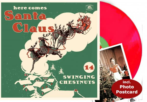 Here Comes Santa Claus - 14 Swingin' Chestnuts - (LP, Red Vinyl)