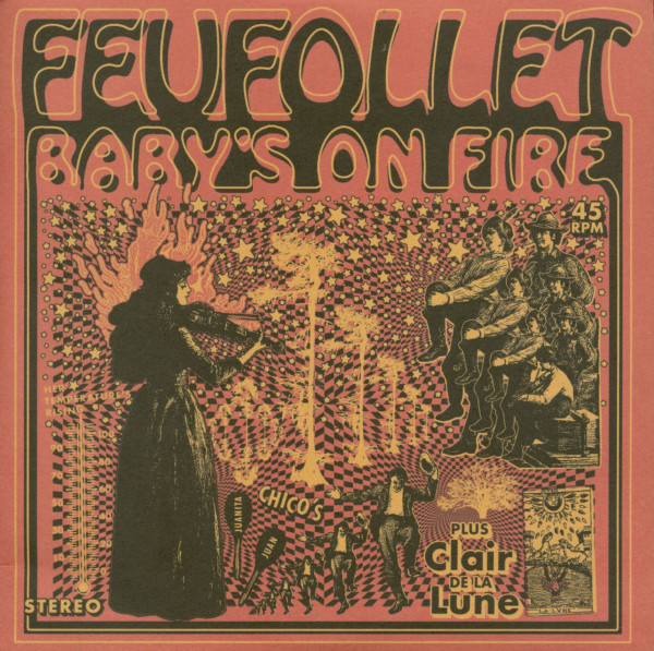 Baby's On Fire - Clair de la Lune (7inch, 45rpm, PS, Ltd.)