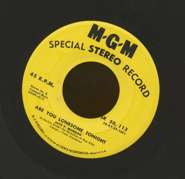 Are You Lonesome Tonight - Miss You (7inch, 45rpm, Stereo)