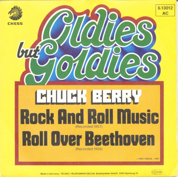 Rock And Roll Music - Roll Over Beethoven (7inch, 45rpm, PS)