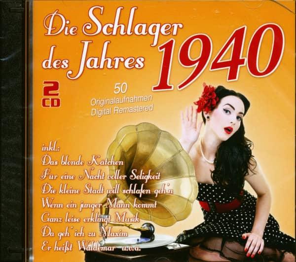 Die Schlager des Jahres 1940 (2-CD)