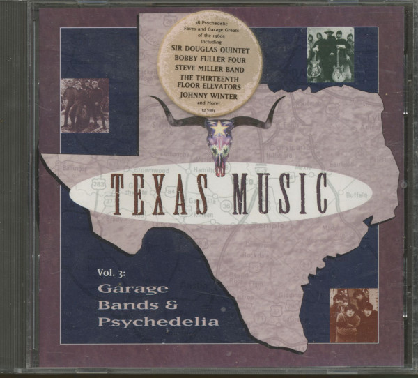 Texas Music Vol.3 - Garage Bands & Psychedelica (CD)