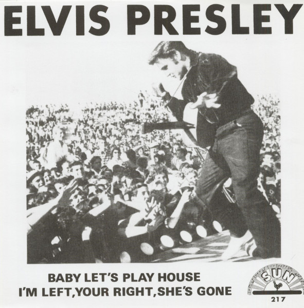 Baby Let's Play House - I'm Left, You're Right, She's Gone, 45rpm, PS, red vinyl