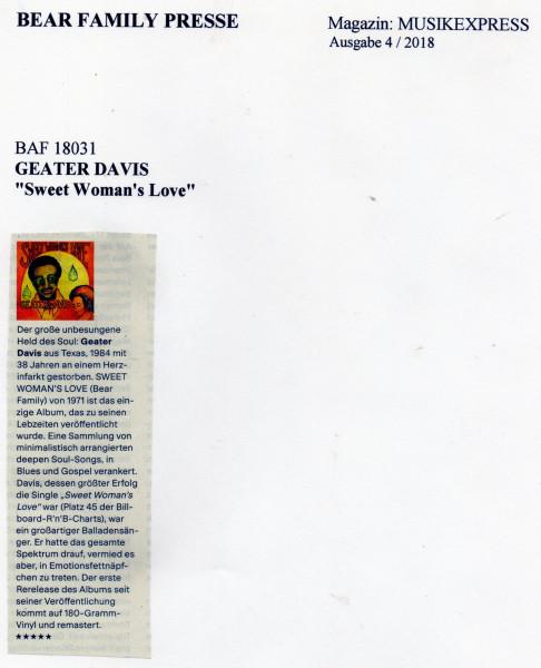 Presse-Geater-Davis-Sweet-Woman-s-Love-Musikexpress