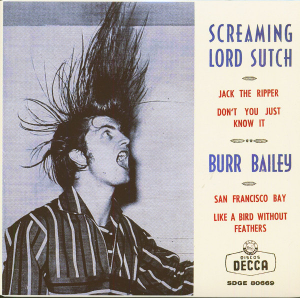 Screaming Lord Sutch - Burr Bailey (7inch, EP, 45rpm, PS, SC)