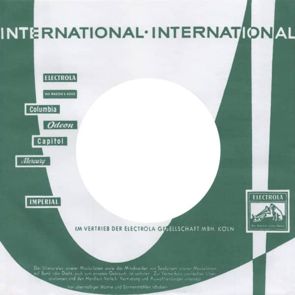 (10) Electrola-International - 45rpm record sleeve - 7inch Single Cover