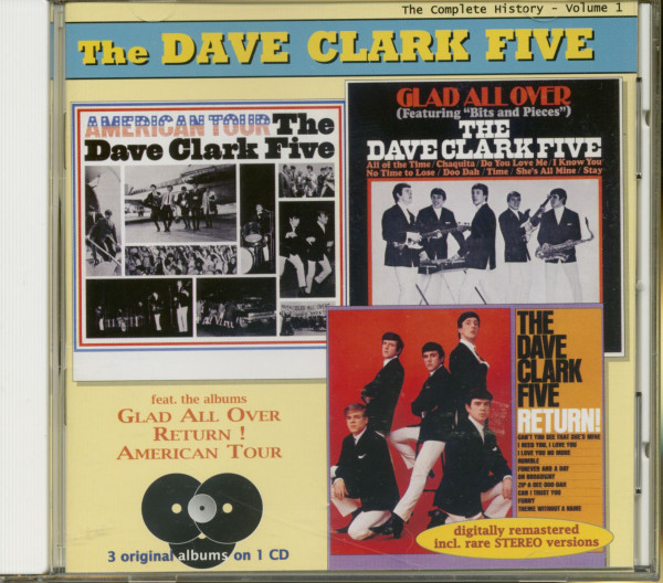 Complete History Vol.1 - American Tour - Glad All Over - Return (CD)