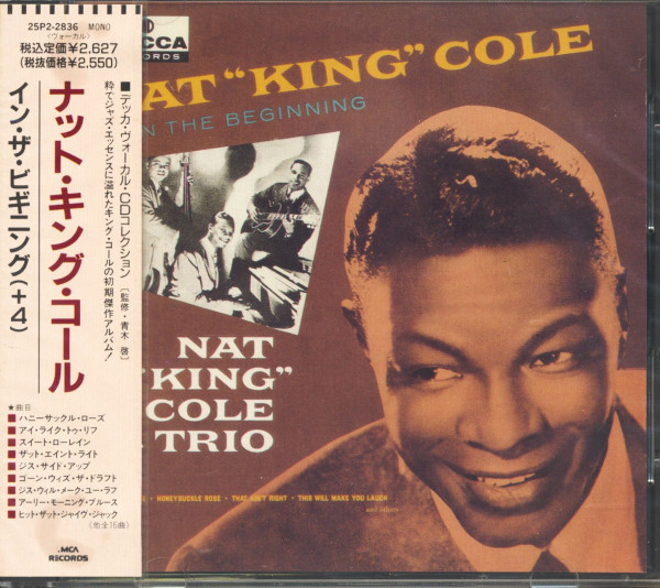 Nat 'King' Cole - The Beginning (CD, Japan)