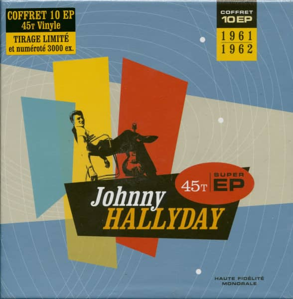 Johnny Hallyday 1961-1962 (10x7inch EP, 45rpm, Ltd.)