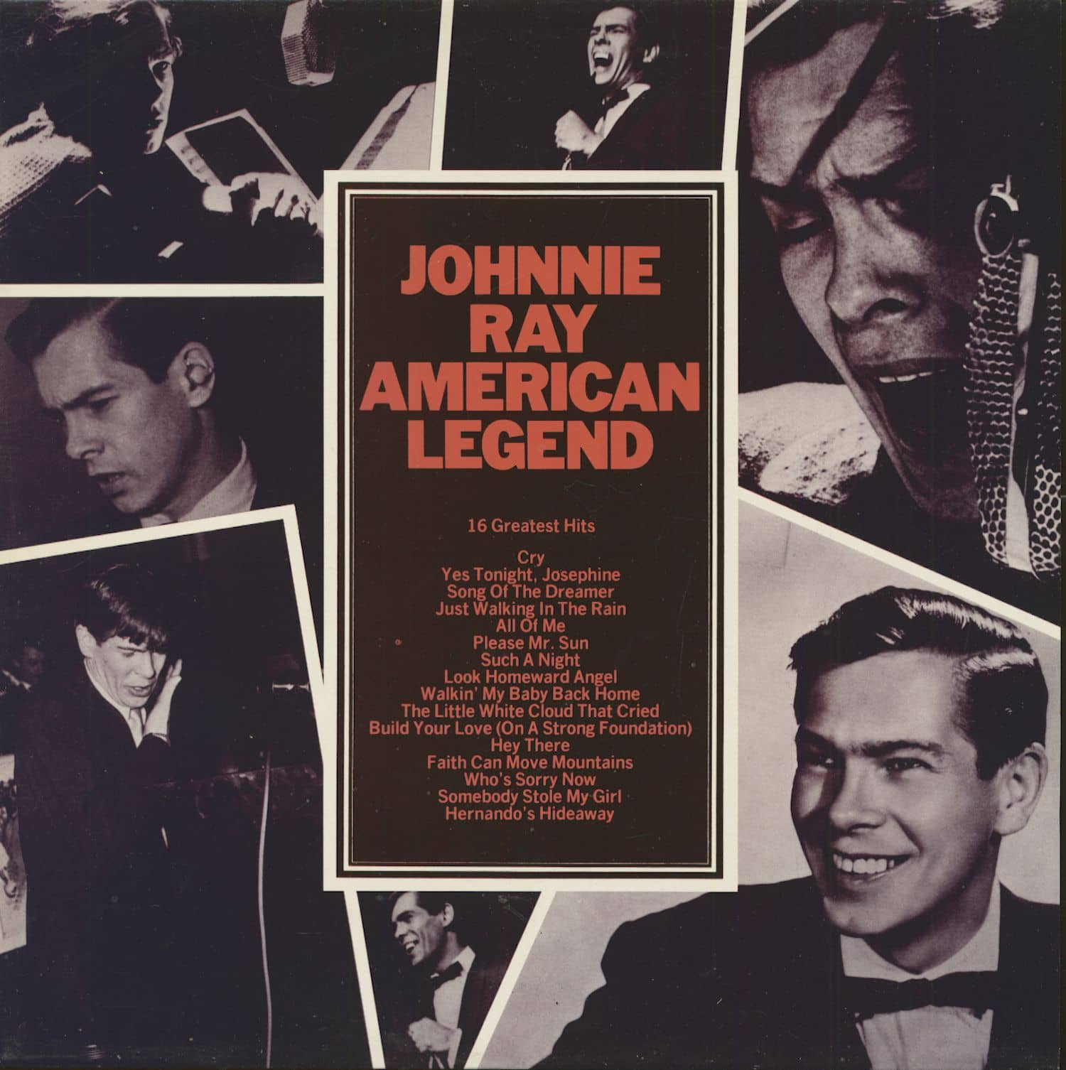 Johnnie Ray Lp American Legend 16 Greatest Hits Lp