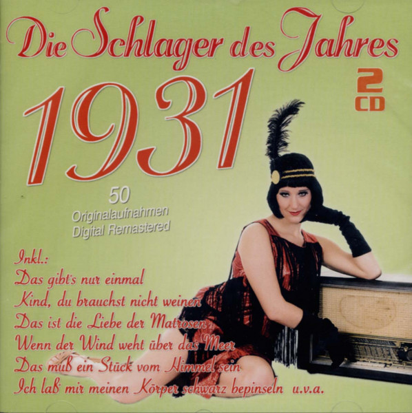 Die Schlager des Jahres 1931 (2-CD)