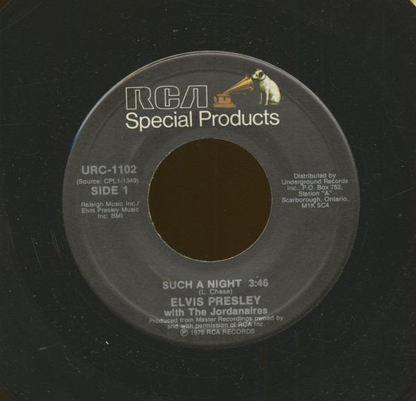 Such A Night - The Elvis Medley (7inch, 45rpm)