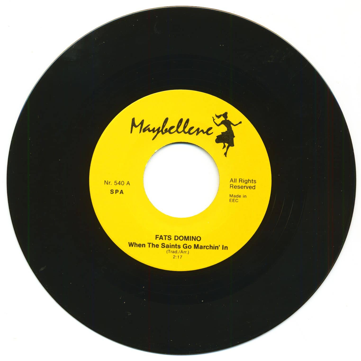 Fats Domino 7inch When The Saints Go Marchin In Blue
