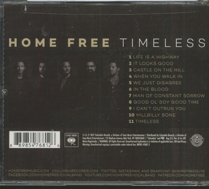 Home Free Cd Timeless Cd Bear Family Records