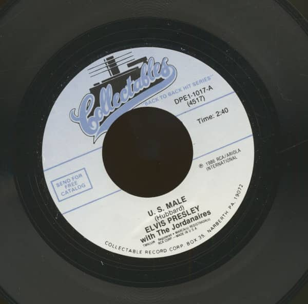 U.S. Male - Until It's Time For You To Go (7inch, 45rpm)