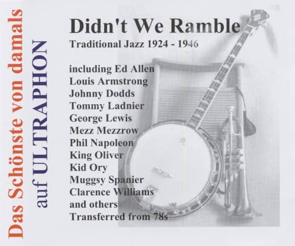 Didn't We Ramble - Trad.Jazz 1924-46