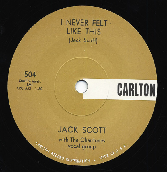 I Never Felt Like This - Bella 7inch, 45rpm, SC