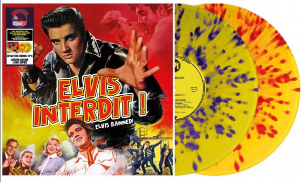 Elvis Banned! (2-LP, Multicolor Vinyl, Ltd.)