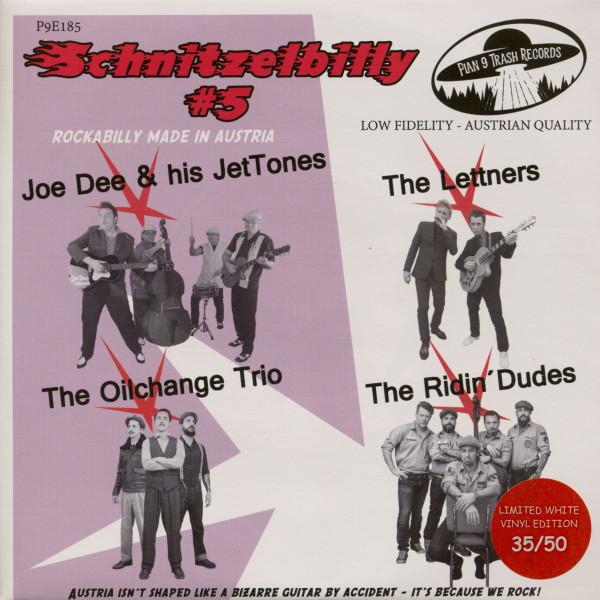 Schnitzelbilly No.5 - Rockabilly Made In Austria (7inch, EP, 33rpm, PS, SC, White Vinyl)
