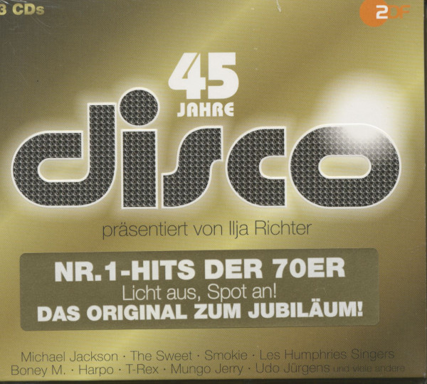 45 Jahre Disco - Die Nr. 1-Hits der 70er (3-CD)