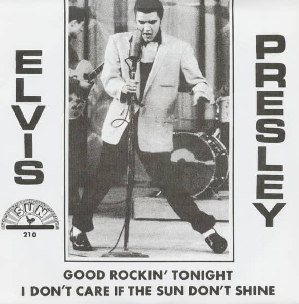 Good Rockin' Tonight - I Don't Care If The Sun Don't Shine, 45rpm, PS, gold vinyl