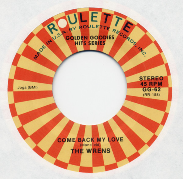 Come Back My Love b-w You're An Angel 7inch, 45rpm