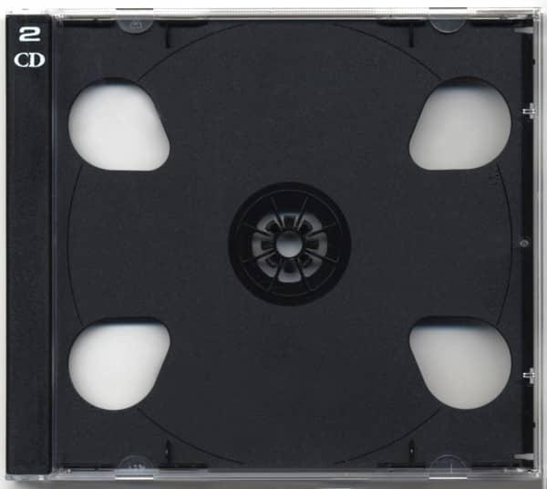 CD Leerhülle mit schwarzem Tray für 2 CDs