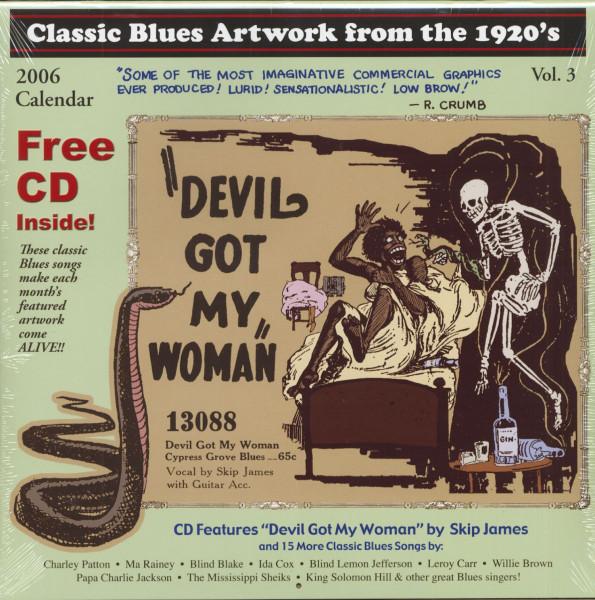 2006 Calendar - Classic Blues Art Of The 1920s (Calendar & CD)