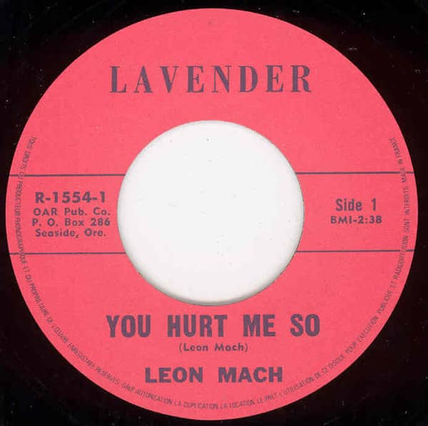You Hurt Me So b-w It's You I Love 7inch, 45rpm