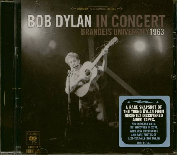 Bob Dylan In Concert - Brandeis University 1963 (CD)
