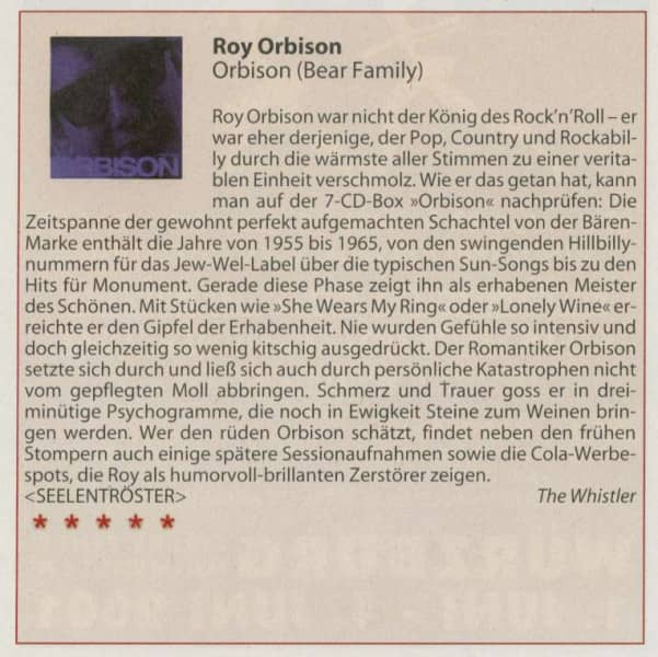 Presse-Archiv-Roy-Orbison-1955-1965-7-CD-Deluxe-Box-Set-Pl-rrer