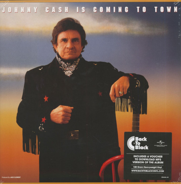 Johnny Cash Is Coming To Town (LP, 180g Vinyl & Download Code)