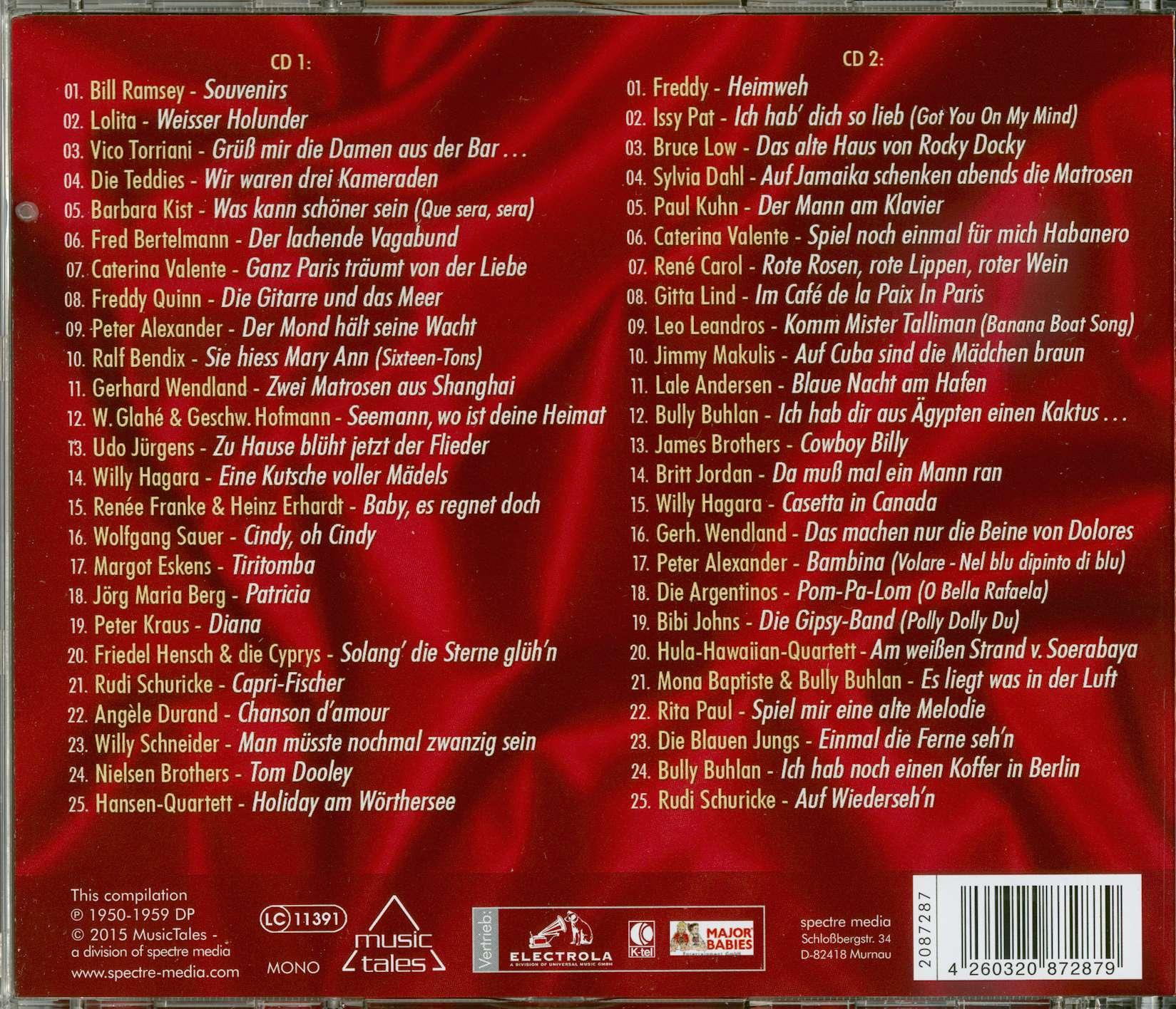 Various Schlagerdiamanten der 50er Jahre (2-CD)