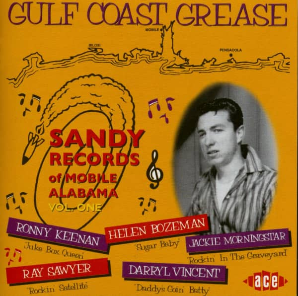 Gulf Coast Grease - Sandy Records of Mobile Alabama (CD)