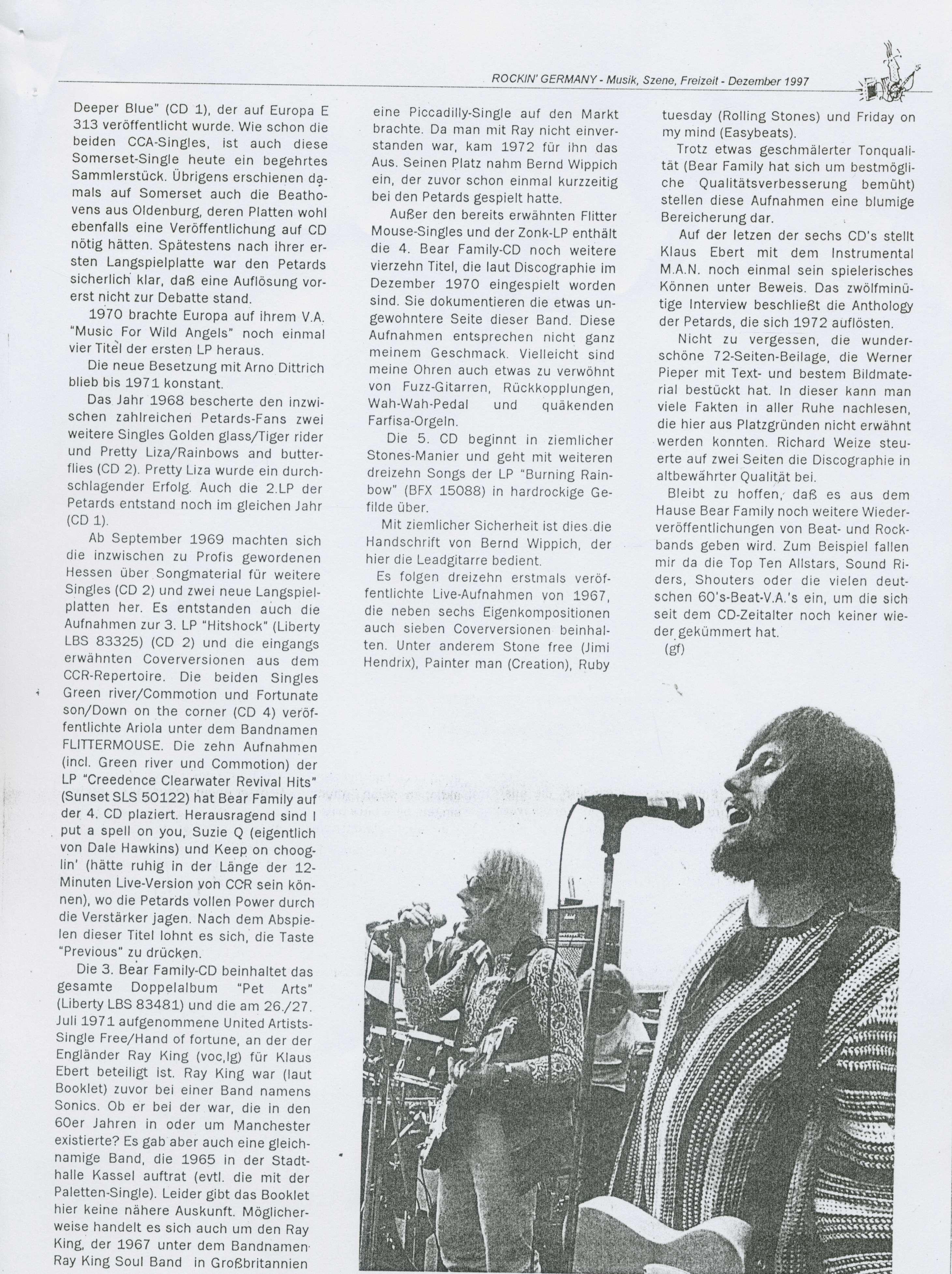 Presse Archive - The Petards - Anthology - Rockin Germany